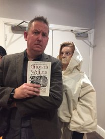 Storyteller Owen Staton with Ghosts of Wales at the Swansea Grand Hotel. Photo: Owen Staton